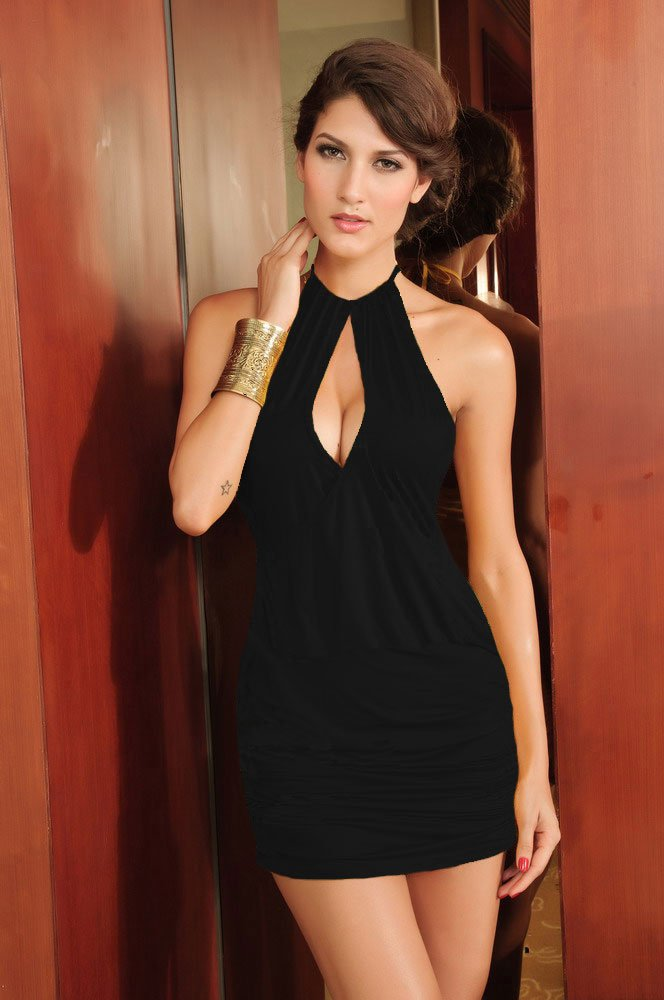 black designer sexy dress