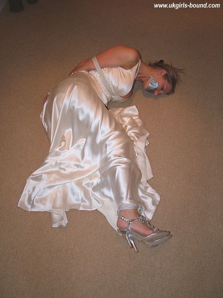 Fords For Sale >> Blonde in White Satin Gown – Bound & Tape Gagged 16342 ...