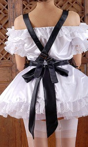 a neatly tied apron